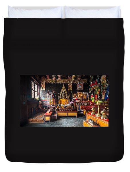Kathmandu Monk Duvet Cover