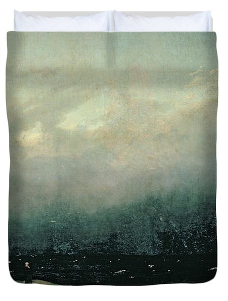 Monk By Sea Duvet Cover by Caspar David Friedrich