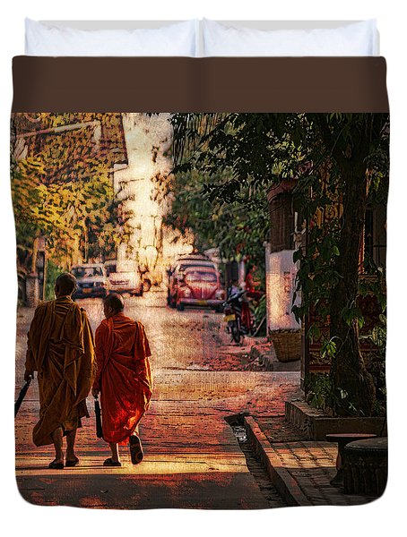 Monk Mates Duvet Cover