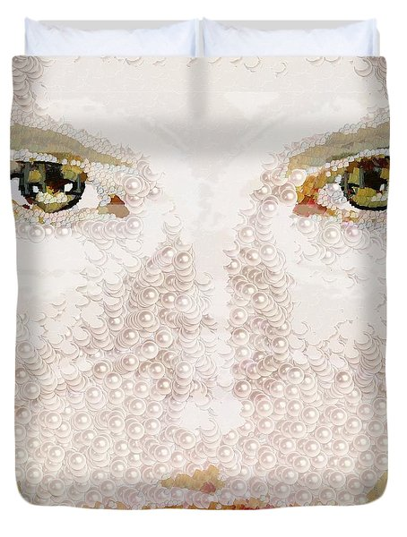 Monkey Glows Duvet Cover by Catherine Lott