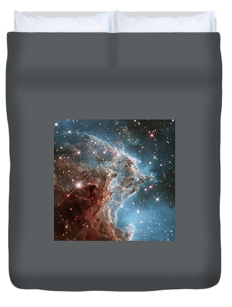 Duvet Cover featuring the photograph Monkey Head Nebula by Marco Oliveira