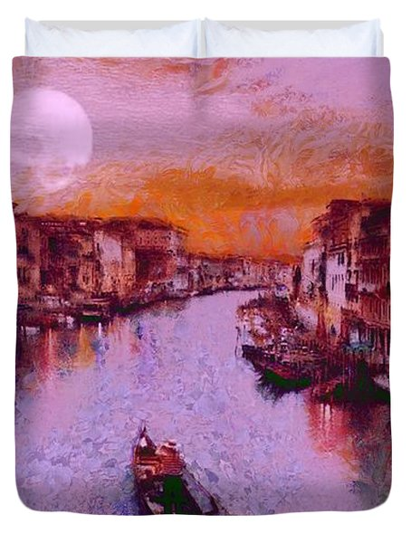 Monkey Painted Italy Again Duvet Cover