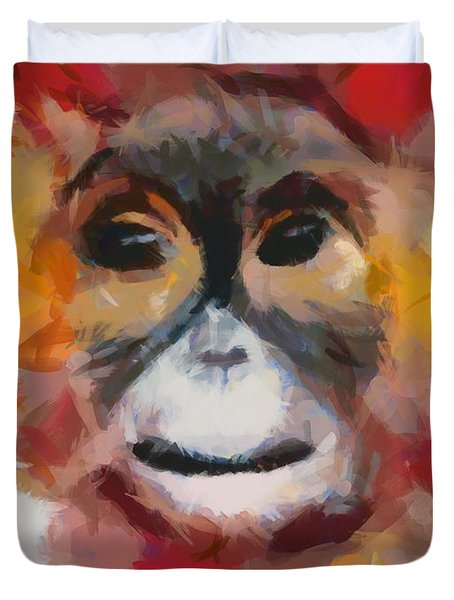 Monkey Splat Duvet Cover