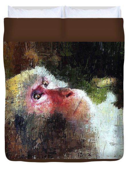 Monkey Wisdom Duvet Cover