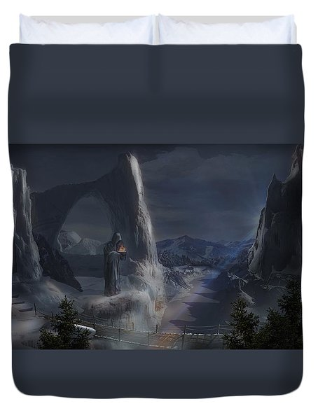 Monks Mountain Duvet Cover