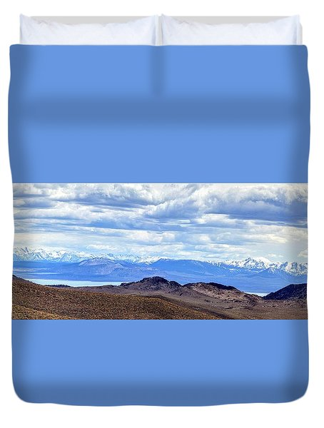 Mono Lake From Bodie Hills Duvet Cover