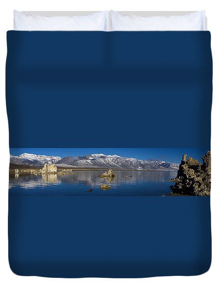 Mono Lake Pano Duvet Cover by Wes and Dotty Weber