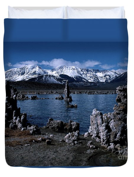 Mono Lake-signed Duvet Cover by J L Woody Wooden