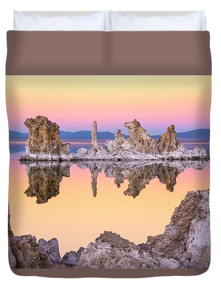 Mono Lake Through A Tufa Frame Duvet Cover