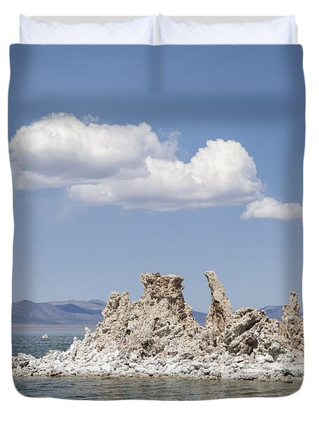 Mono Lake Tufa Towers Duvet Cover