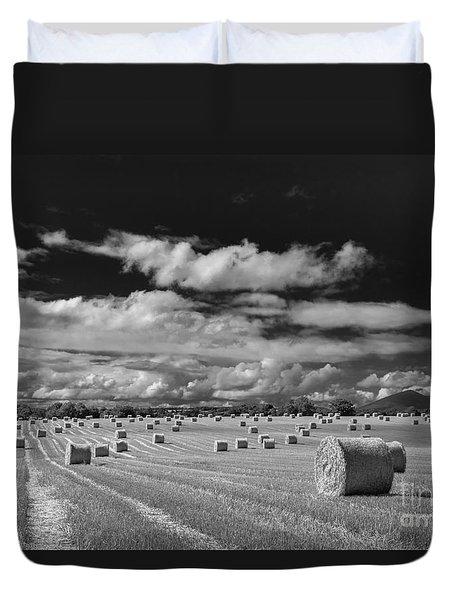 Mono Straw Bales Duvet Cover