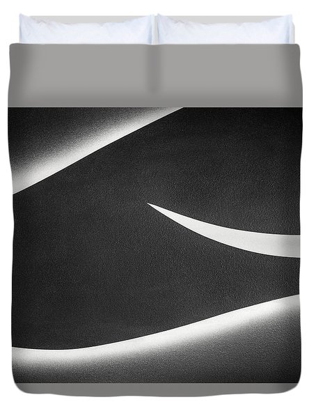 Monochrome Abstract Duvet Cover