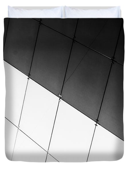 Monochrome Building Abstract 3 Duvet Cover