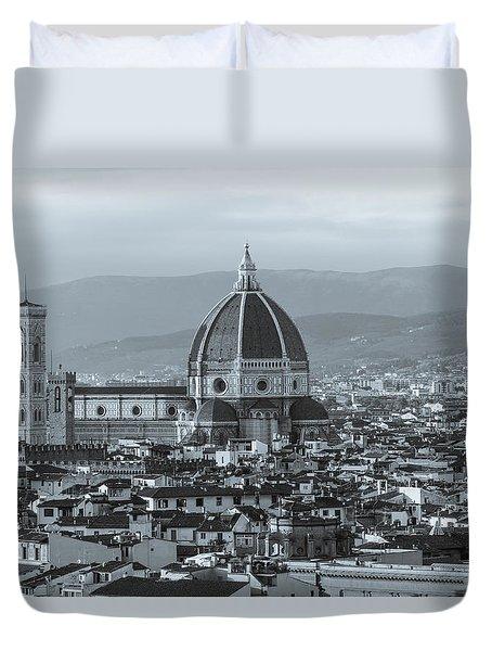 Monochrome Florence Duvet Cover by David Warrington