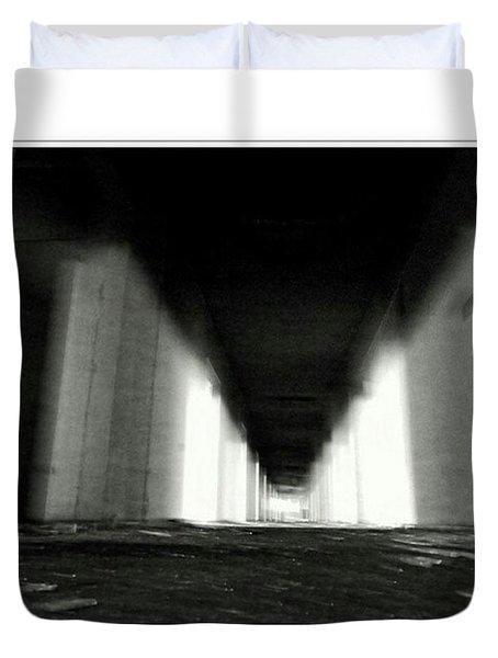 #monochrome  #fuji #finepixs1 Duvet Cover