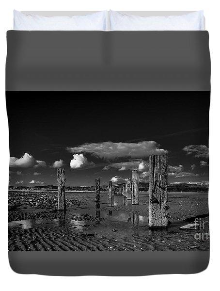 Monochrome Groynes Duvet Cover