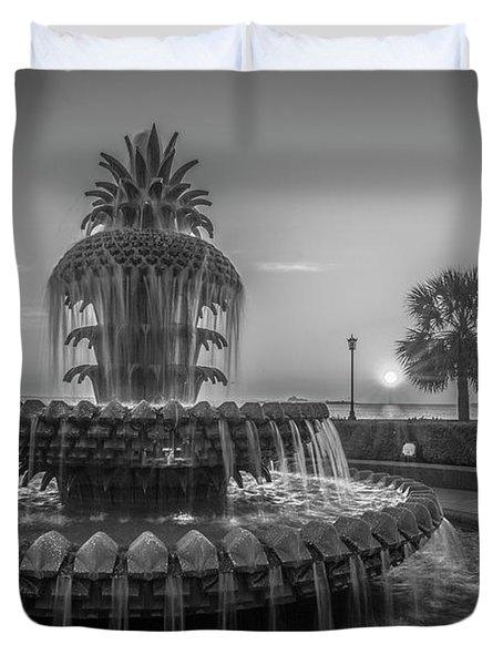 Monochrome Pineapple Duvet Cover
