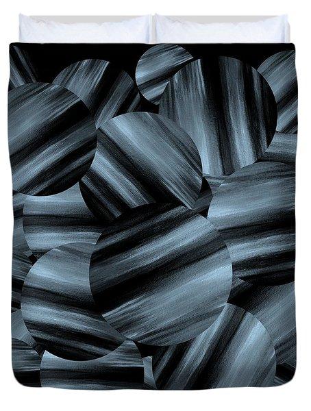Monochrome Ribbon Spheres Duvet Cover