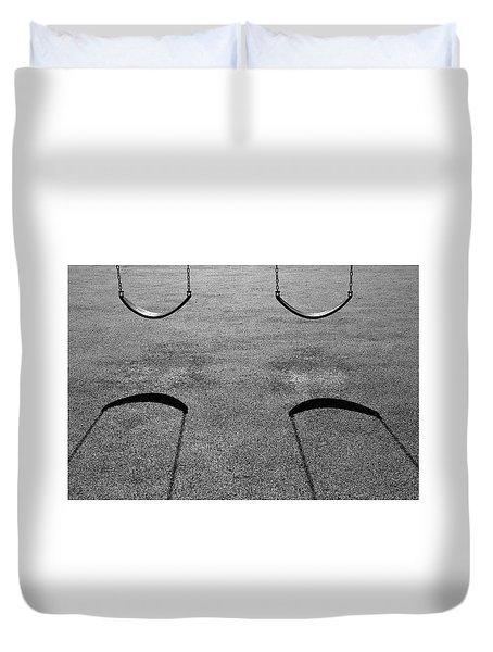 Monochrome Swings Duvet Cover