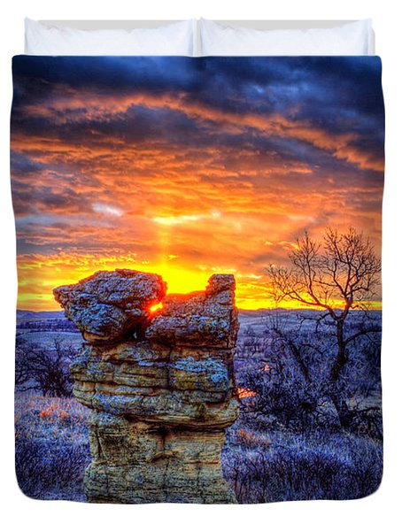Monolithic Sunrise Duvet Cover