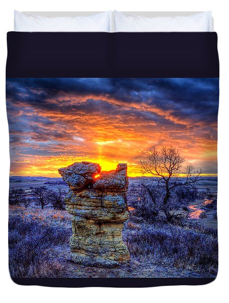 Monolithic Sunrise Duvet Cover