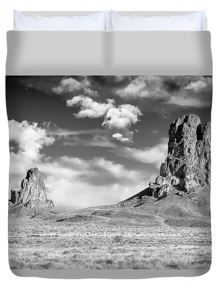 Duvet Cover featuring the photograph Monoliths by Jon Glaser