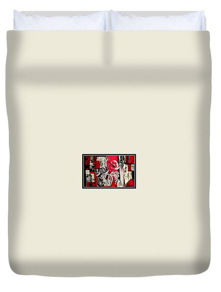 Monroe And Bardot Collage Duvet Cover
