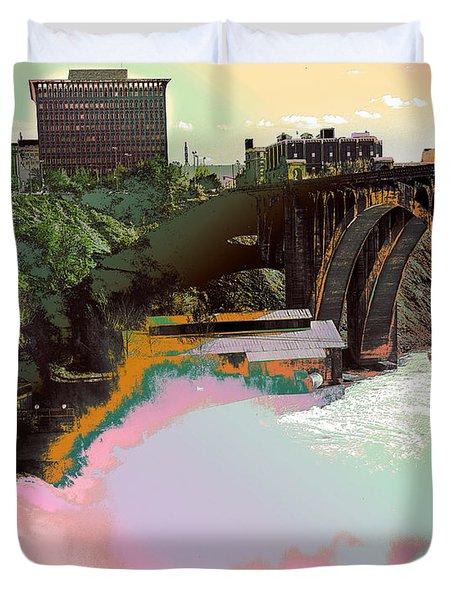 Grunge Monroe Street Plant  Duvet Cover