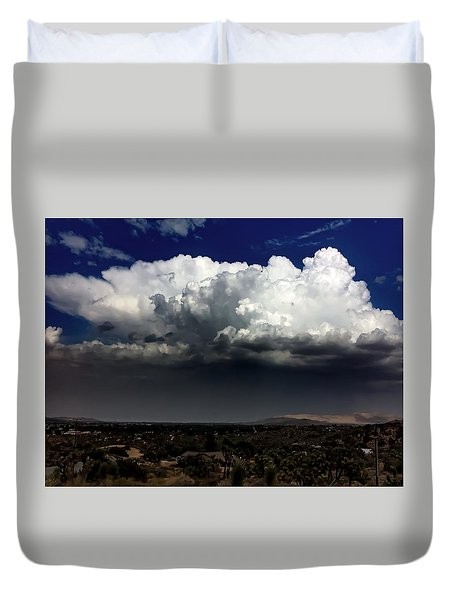 Duvet Cover featuring the photograph Monsoon by Chris Tarpening