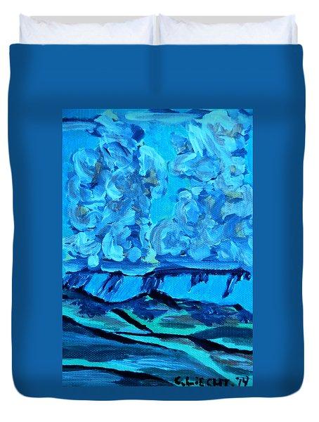 Duvet Cover featuring the painting Monsoon Desert Storms IIi by Carolina Liechtenstein