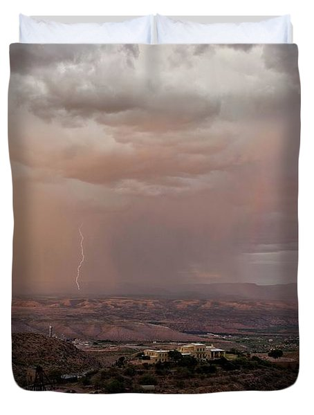 Monsoon Lightning And Rainbow Duvet Cover