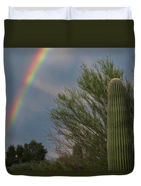 Monsoon Rainbow Duvet Cover