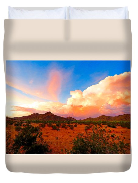 Monsoon Storm Sunset Duvet Cover