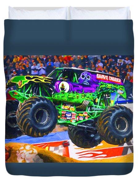 Monster Jam Grave Digger Duvet Cover