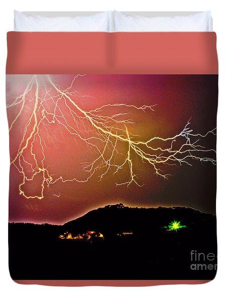 Monster Lightning By Michael Tidwell Duvet Cover