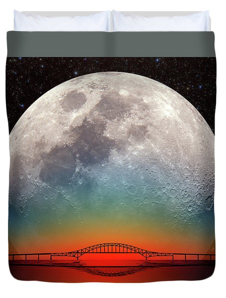 Monster Moonrise Duvet Cover