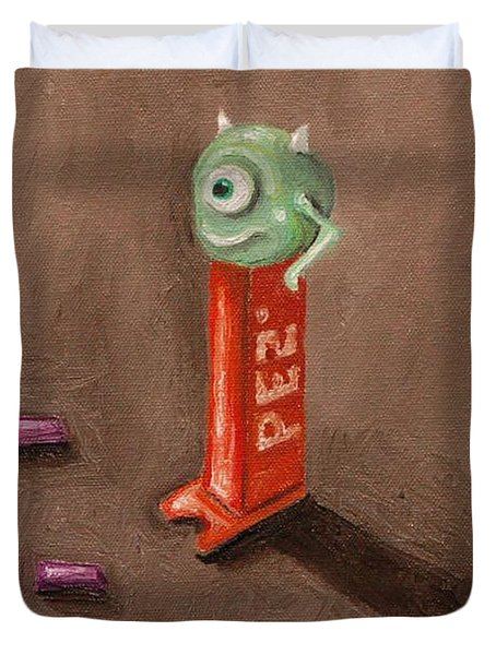 Monster Pez Duvet Cover by Leah Saulnier The Painting Maniac