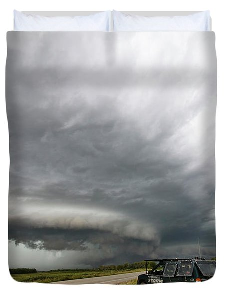 Monster Storm Near Yorkton Sk Duvet Cover