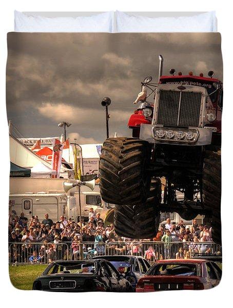 Monster Truck Destruction  Duvet Cover by Rob Hawkins