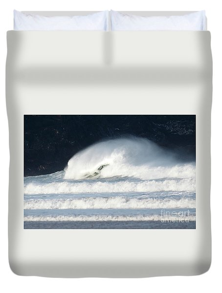 Duvet Cover featuring the photograph Monster Wave by Nicholas Burningham