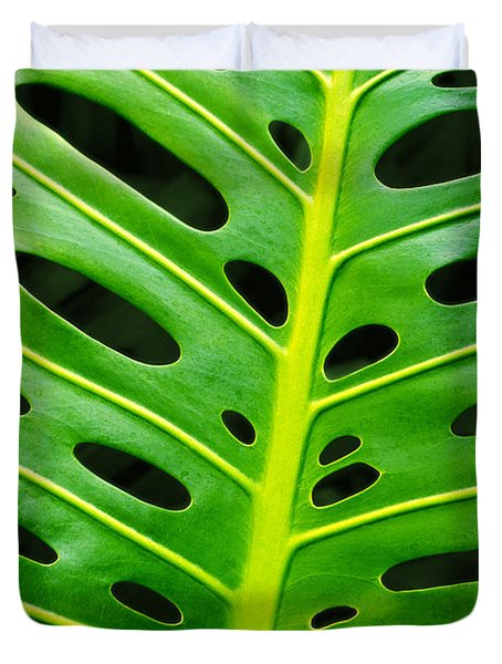 Monstera Leaf Duvet Cover by Carlos Caetano