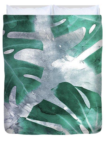 Monstera Theme 1 Duvet Cover by Emanuela Carratoni