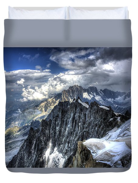 Mont Blanc Near Chamonix In French Alps Duvet Cover