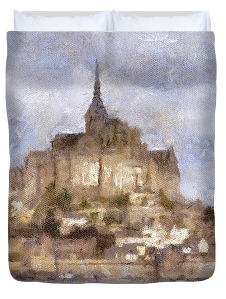 Mont Saint-michel, Normandy, France Duvet Cover