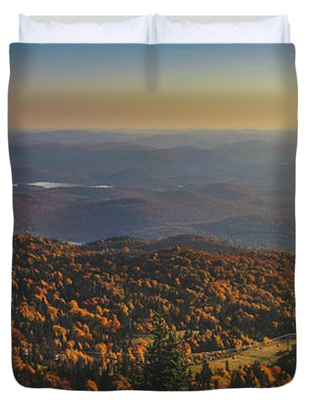 Mont Tremblant Summit Panorama Duvet Cover