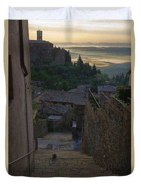 Montalcino City Duvet Cover by Yuri Santin