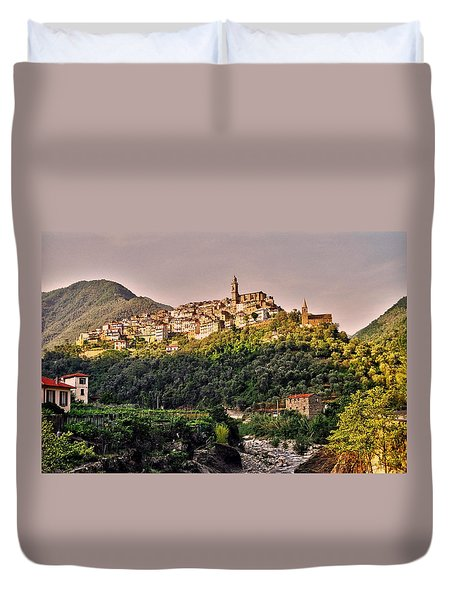 Montalto Ligure - Italy Duvet Cover by Juergen Weiss