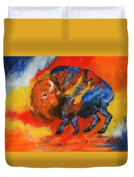 Montana Bison Duvet Cover
