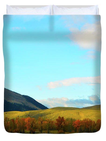 Montana Fall Trees Duvet Cover