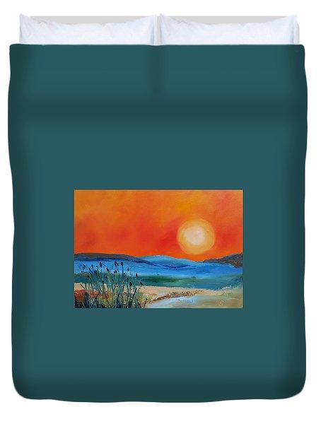 Montana Firery Sunset             49 Duvet Cover